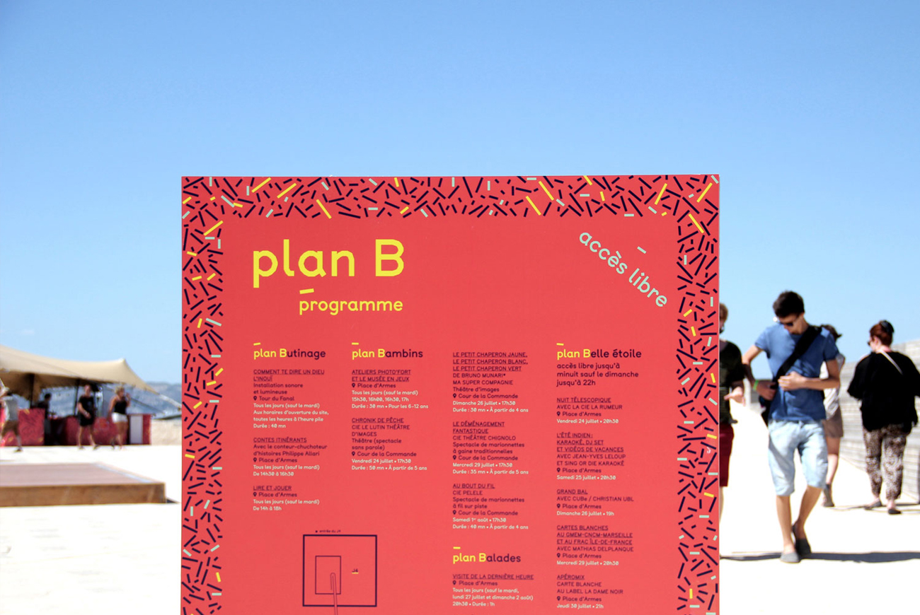 Plan B mucem signaletique varina volk graphisme freelance paris